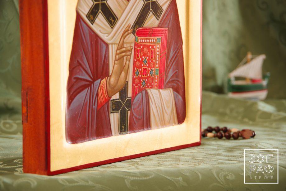 детаљ иконе светог Николе Мирликијског